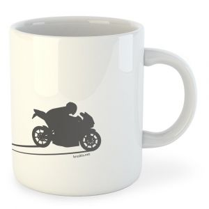 Tasses Kruskis Motorbike Shadow - White - Taille 325 ml (11 oz)