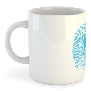 Tasses Kruskis Tasse Tennis Fingerprint - White - Taille 325 ml (11 oz)