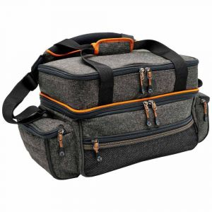 Daiwa Accessory Bag L One Size Grey / Orange