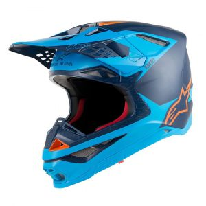 Alpinestars Supertech S-M10 Meta Casque de motocross Noir Bleu M