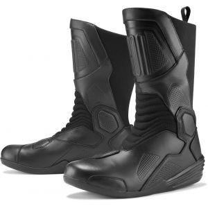 Icon Joker WP Bottes de moto Noir 45 46