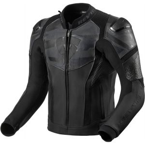 Revit Hyperspeed Air Veste en cuir de moto Noir Gris 46