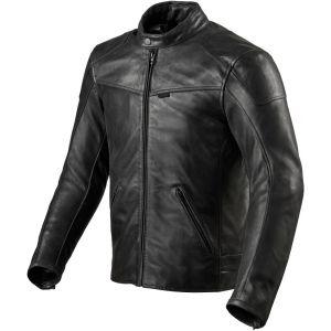 Revit Sherwood Veste en cuir de moto Noir 58