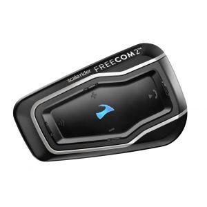 Cardo Scala Rider Freecom 2 Pack unique de système de communication Noir unique taille
