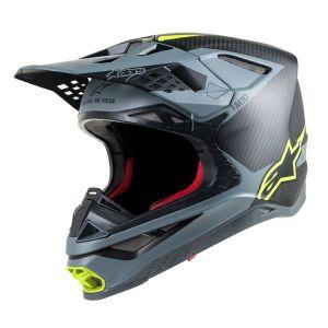 Alpinestars Supertech S-M10 Meta Casque de motocross Noir Jaune S