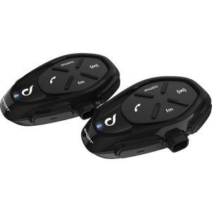 Interphone Sport Bluetooth Double Pack Système de communication Noir unique taille