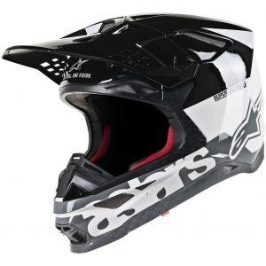 Alpinestars Supertech S-M8 Radium Casque de motocross Noir Gris Blanc S