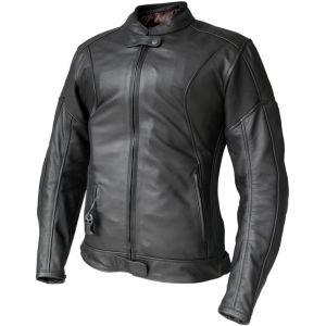 Helite Xena Mesdames veste de moto en cuir Airbag Noir XL