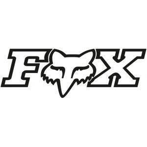 FOX F-Head X TDC 18 autocollant Noir 45 cm