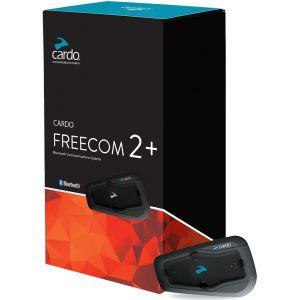 Cardo Freecom 2+ Duo Système de communication Double Pack Noir unique taille