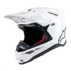 Alpinestars Supertech S-M10 Solid Casque de motocross Blanc L