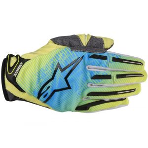 Alpinestars Charger Gants motocross 2014 Bleu Jaune 2XL