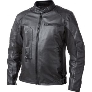 Helite Roadster Veste en cuir de moto Airbag Noir 6XL
