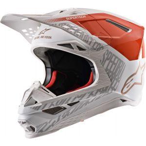 Alpinestars Supertech S-M8 Triple Casque de motocross Blanc Orange XL