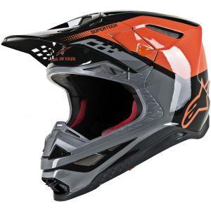 Alpinestars Supertech S-M8 Triple Casque de motocross Noir Orange S