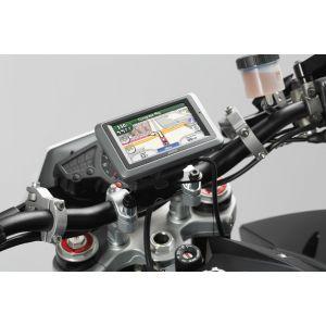 SW-Motech Support GPS QUICK-LOCK - Noir. choc absorbent.