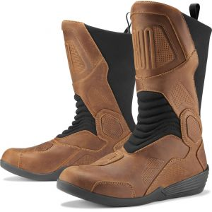 Icon Joker WP Bottes de moto Brun 41