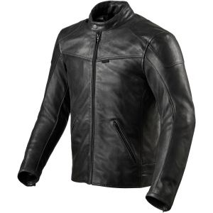 Revit Sherwood Veste en cuir de moto Noir 50