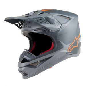 Alpinestars Supertech S-M10 Meta Casque de motocross Noir Orange L