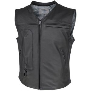 Helite Custom Veste en cuir Airbag Noir S