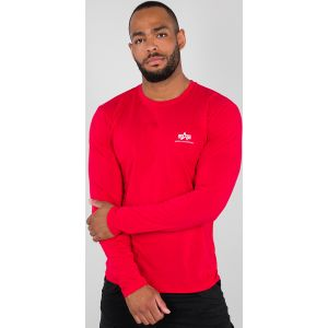 Alpha Industries Basic Small Logo Manches longues Rouge M