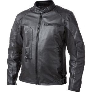 Helite Roadster Veste en cuir de moto Airbag Noir L