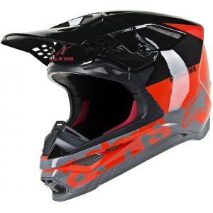 Alpinestars Supertech S-M8 Radium Casque de motocross Noir Gris Rouge S
