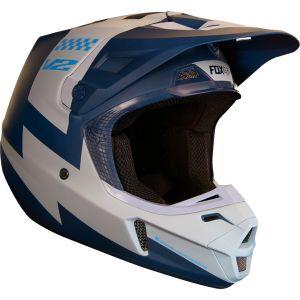 FOX V2 Master Casque MX Gris Bleu S