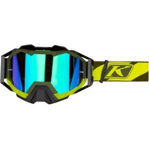 Klim Viper Pro Twotrak Lunettes Motocross Vert Jaune unique taille
