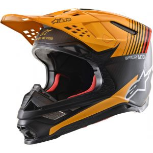 Alpinestars Supertech S-M10 Dyno Casque de motocross Gris Orange M