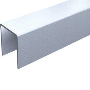 Profil U en aluminium de 25 x 18 mm longueur 3 mètres