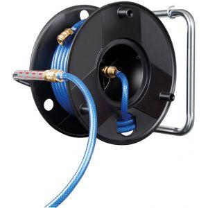 Enrouleur tuyau d'air Pro 9/15 longueur 20 m avec raccords rapides