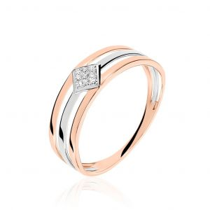 Bague Elsa Or Bicolore Et Diamants