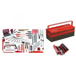 2046.SG4A Sélection services généraux 112 outils plus boîte à outils métal - FACOM