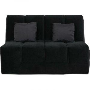 LOS ANGELES - Banquette Slyde 140 coton noir - matelas Dunlopillo - RELAXIMA