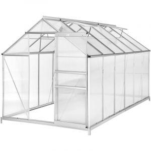 Serre de Jardin Polycarbonate 6,93 m² + 1 Embase en Acier - TECTAKE