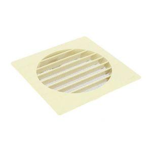 Grille de ventilation extérieures coloris sable Ø 160 mm - spéciale façade - GETM pour tubes PVC et gaines - NICOLL