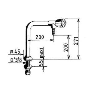 Chandelier éducation nationale - 200 mm - 1 tête - Sanifirst