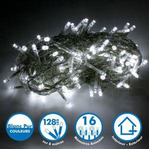 Guirlande lumineuse 8 mètres 128 LED - Blanc Pur extérieur - ECLAIRAGE DESIGN