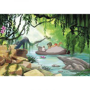 Papier Peint Photo Le livre de la jungle Disney Nager avec Baloo 368cm x 254cm - KOMAR
