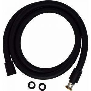 Flexible PVC double attache conique anti-torsion Pollini Acqua Design FLE150 / FLE200 | Noir mat - 150 cm
