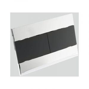 Plaque rectangulaire argent et noire - RUE DU BAIN