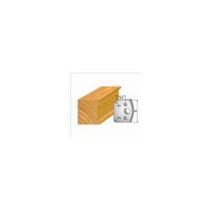 172 : jeu de 2 fers 40 mm congé quart de rond 5 mm pour porte outils 40 et 50 mm - LUXOUTILS