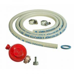 Kit connexion gaz complet pour Appareils à gaz ( Détendeur PROPANE 37 mbar + tuyau souple 1.50m + embout tétine ) - PROWELTEK