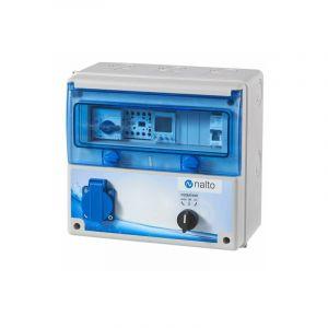 Coffret Electrique Piscine Filtration + 1 Prise Integrée + Protection Electrique Pompe à Chaleur NALTO