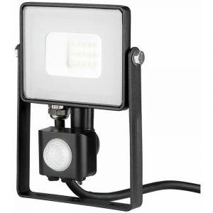 Projecteur LED Avec Détecteur Infrarouge 10 W Ip65 Samsung Chip Noir Pro Vt-10-s - Blanc Froid - 6400k V-TAC PRO
