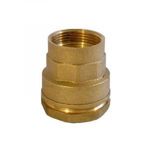 Raccord Femelle en laiton - Pour raccordement polyéthylène - Diamètre 20 mm - Taraudage 15/21 - SANITAIRE-DISTRIBUTION