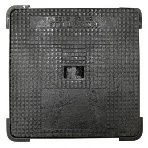 Jardibric - Regard hydraulique carré 400 x 400 mm en fonte Classé B 125
