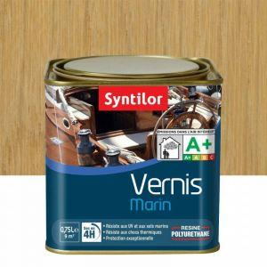 Vernis marin incolore Syntilor: brillant, mat ou satiné (brillant - pot de 0,75 l) - Aspect - Conditionnement : Brillant - Pot de 0,75 L