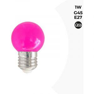 Ampoule LED E27 1W Couleurs | Rose - BARCELONA LED